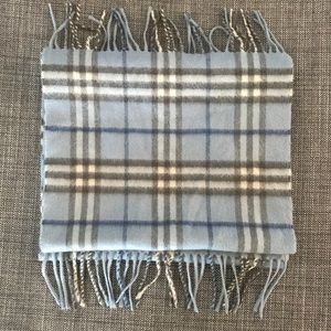 Burberry Women's Lt Blue/Gry  100% Cashmere Scarf